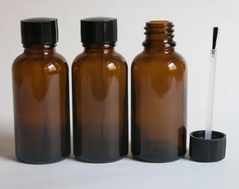 도매 30ml 앰버 유리 브러쉬 병, 30ml 앰버 유리 병, 앰버 Essetial 오일 병, 세럼 브러쉬