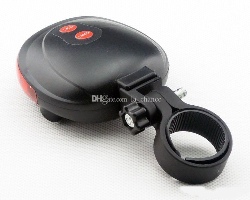 1Réglez Bike accessoires de vélos conduit à vélo LED laser vélo feu arrière 2 Laser + 5 LED, la lumière de vélo vélo de sécurité vélo LED