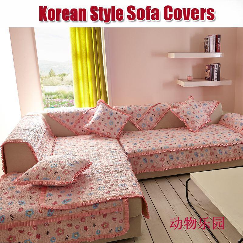 Sofa Cover Korean L/Lshape Sofa Couch Covers Corner Slipcover Cartoon  Animal Pink Cushion Sofas Towel Set Sofas Sofa Recliner Covers Slipcovers  For ...