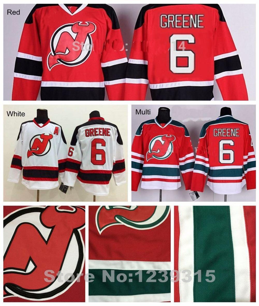 new style a88b9 9576b Factory Outlet, New Jersey Devils Jersey #6 Andy Greene Jersey Devils Color  Red Road White Authentic NJ Devils Andy Greene Hockey Jersey A P