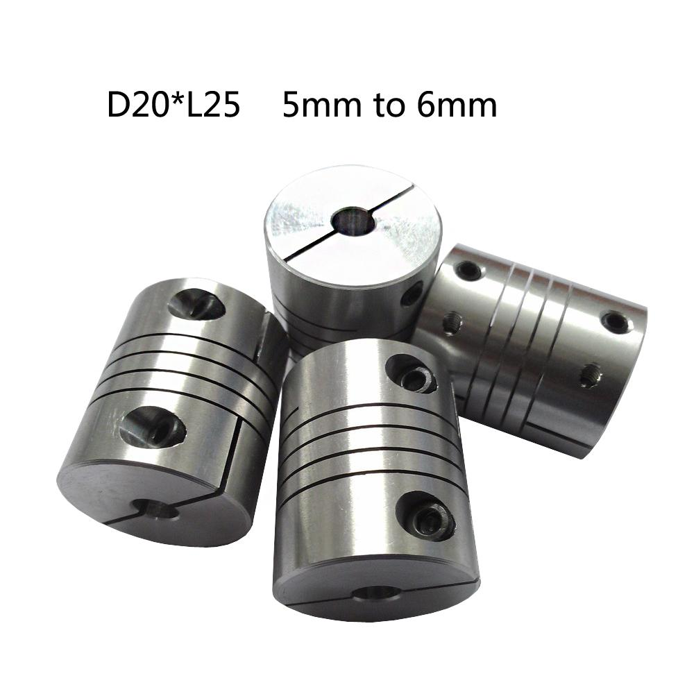 CNC Motor Jaw chain coupling 5mm to 6mm Flexible Coupler D20L25 for dc motor.