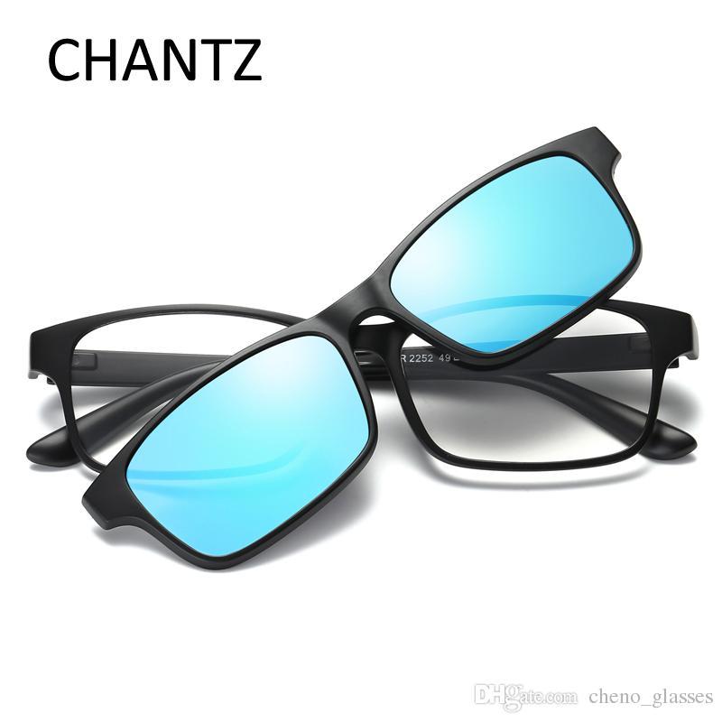 2703e96e9 Compre Óculos De Leitura Quadrados Do Vintage UV400 Flexível TR90 Polarizada  Óculos De Sol Das Mulheres Espelho Sombra Desmontável Gafas De Sol Mujer De  ...