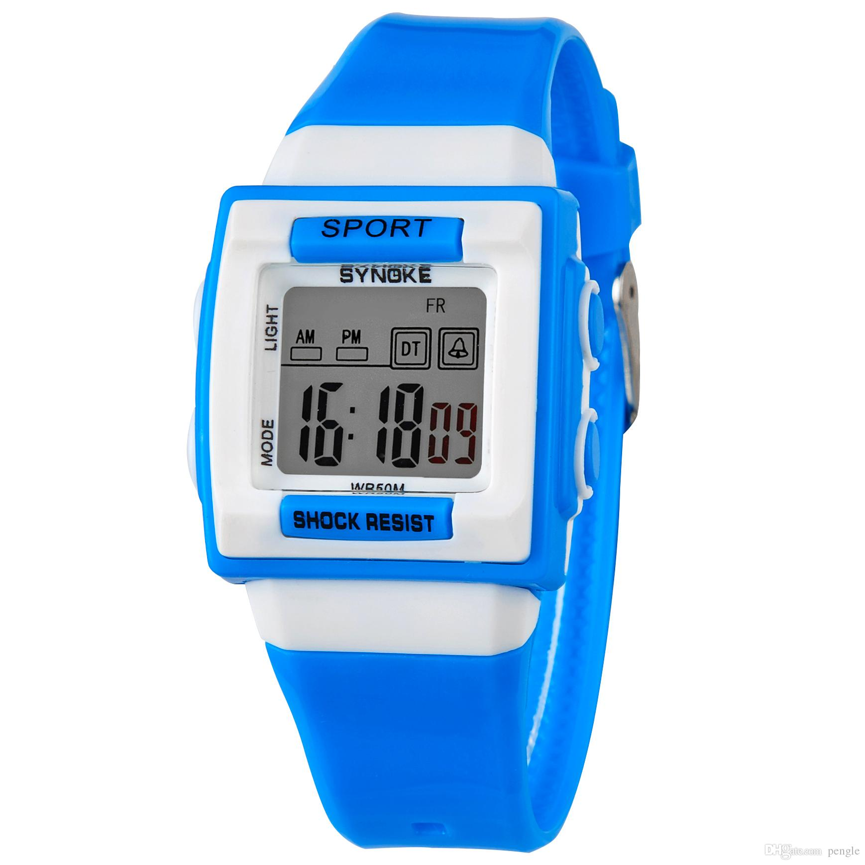 New Style Wrist Swimming Waterproof Digital Watch LED Alarm Date Sports Gift For Kids Students