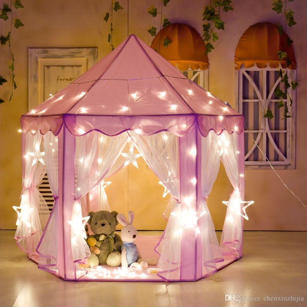 Großhandel Baby Mädchen Prinzessin Schloss Spielzelt Spielhaus Kinder  Kinder Outdoor Spielzeug Geschenk