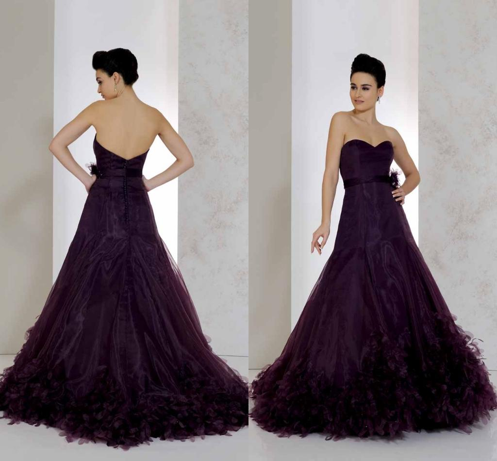 Discount cheap 2015 wedding dresses with sash dark purple color discount cheap 2015 wedding dresses with sash dark purple color sweetherat tiers garden vestido de novia chapel train wedding ball gowns custom made fitted ombrellifo Image collections
