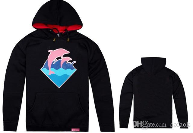 Pink dolphin Hoodies hiphop men's clothes print hip hop Clothing Hoodies Sweatshirt cotton pullover fleece jumper rock free shpping
