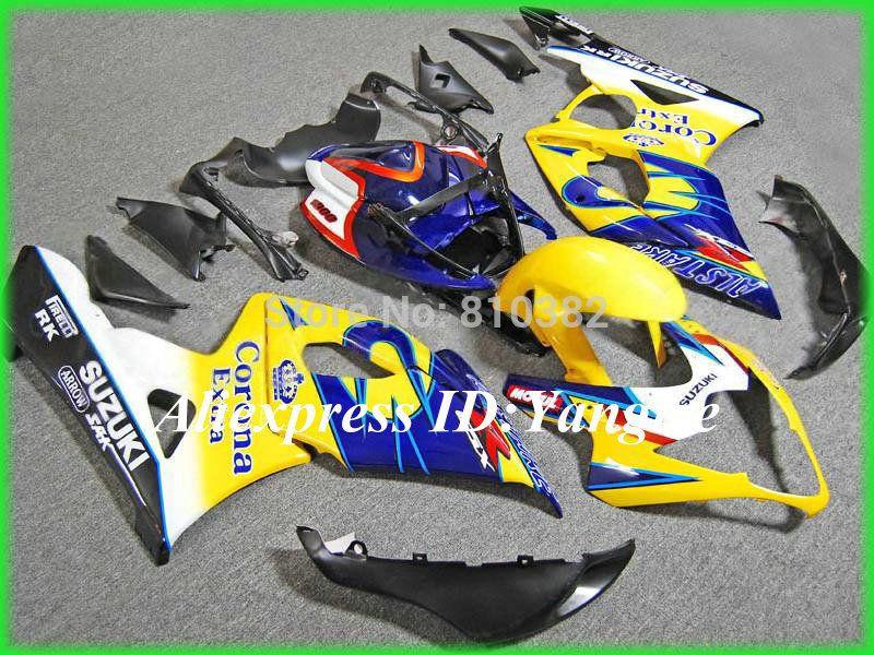 Kit de carenado de motocicleta amarillo para SUZUKI GSXR 1000 05 06 molde de inyección GSXR 1000 K5 2005 - 2006