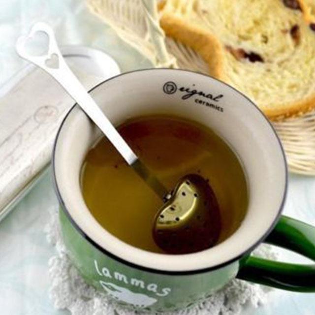 شكل قلب infuser هوك ملعقة شاي مصفاة الفولاذ stee infusers الشاي القلب ملعقة الشاي الكرة المقاوم للصدأ وعاء الشاي العشبية