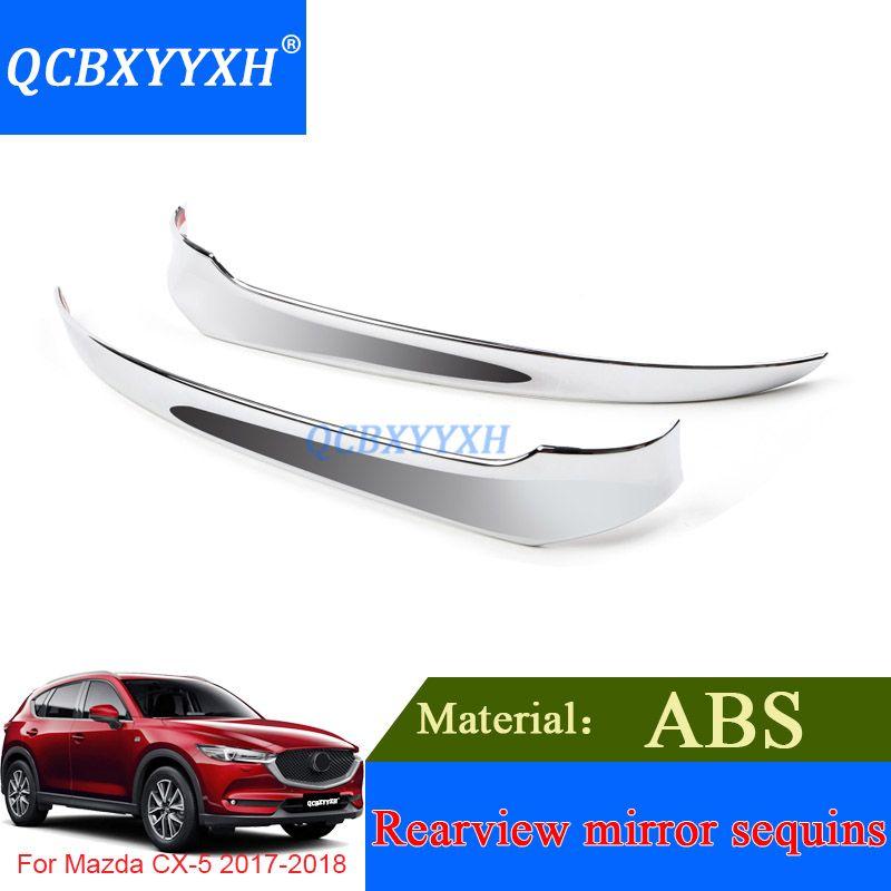 QCBXYYXH 2 Adet ABS Araba Dikiz Aynaları Dekorasyon Krom Trim Dış Trim Aksesuarları Mazda CX-5 2017 2018 Dış Pullu