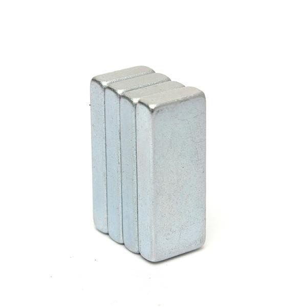 Venta caliente 4 unids Bloques de Neodimio Muy Fuertes Imanes N52 Grado Craft Square NdFeB 25X10x4mm Imán orden $ 18no pista