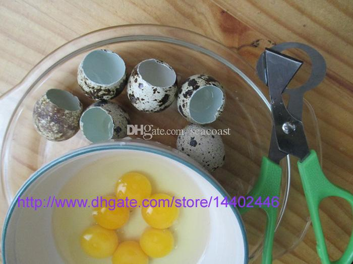 200 قطع السمان مقص البيض القاطع البيض فتاحة السمان بيض مقص البيض قشر المفرقع الفولاذ الصلب بليد أدوات المطبخ