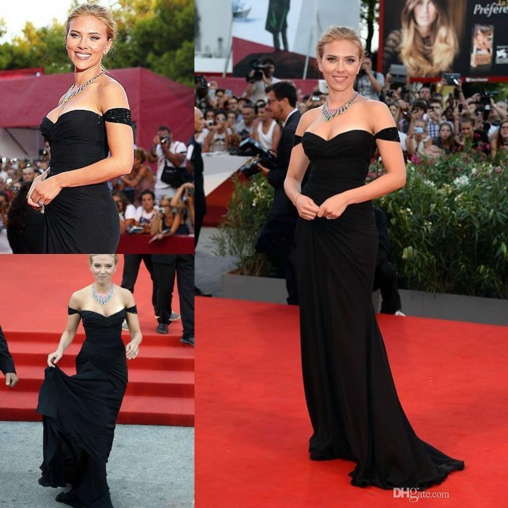 Scarlett Johansson Venice Film Festival Dress Celebrity Red Carpet