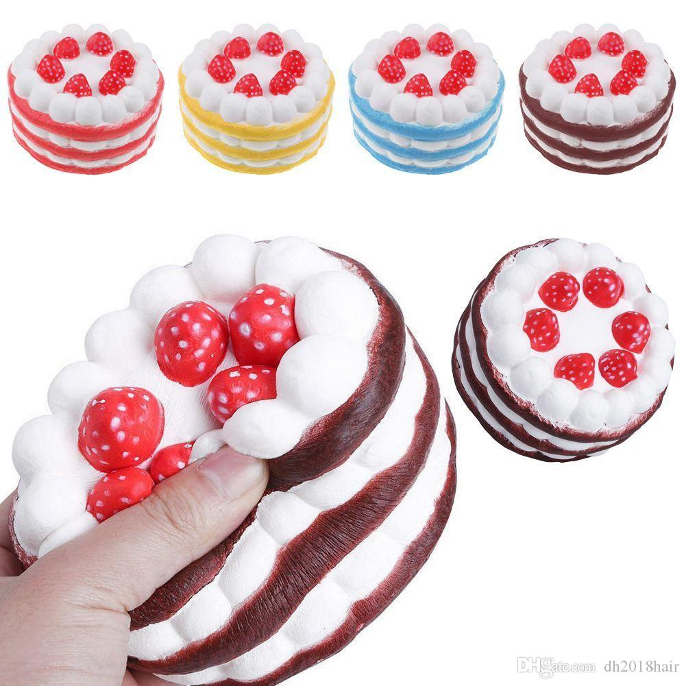 Squishy Cake Strawberry Perfume Cream Pink Yellow Red Coffee Blue Parfum Kopi Parfume Mobil Fidget Toy Jumbo Decor Slow Rising Squishies Mobile Phone Parts Cell From