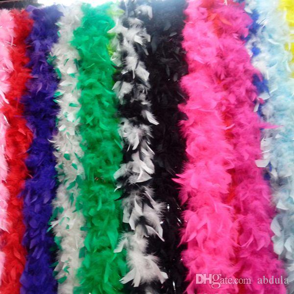 Chandelle boa de plumas de Turquía boa de plumas de marabú 40g / pcs Cualquier Colores marabú la boa de plumas de muchos colores de la boda decoración del partido