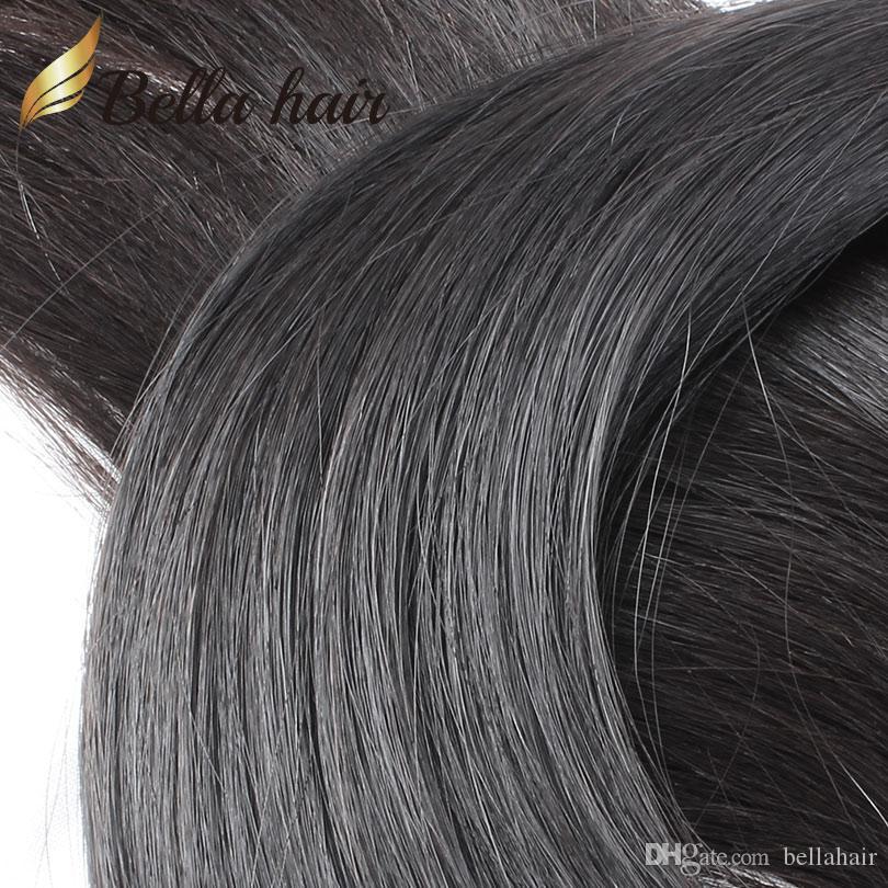 """100% Virgin Mongolian Hair Bundle 3 Bundles Silky Straight Unprocessed Human Hair Extensions Hair Weft 8""""-30"""" Bellahair"""