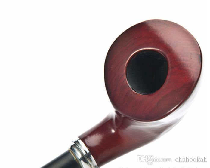 Kalp şeklinde Kırmızı Kahverengi Reçine Ahşap Boru Siyah Kutuplu Boru Boru Sigara