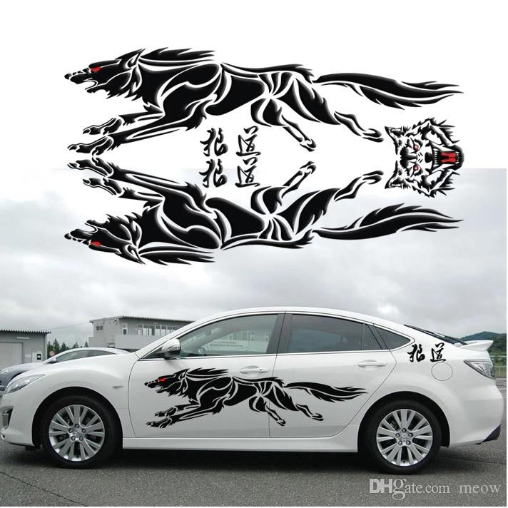 2018 wolf car sticker whole body decals running wolf personalized stickers from meow 10 06 dhgate com