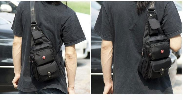 2015 New Sling Backpack Chest Bag Men Leisure Shoulder Bag ...