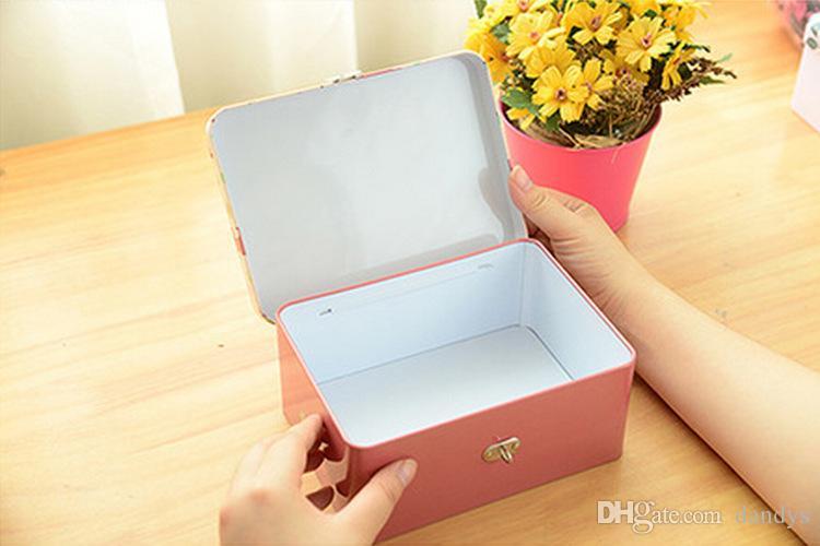 Nova caixa de ferro de tamanho médio de classicForest Elf series / caixa de armazenamento / caixa de metal /