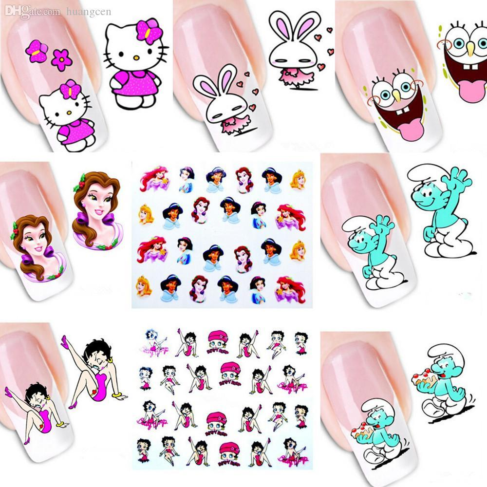 Wholesale New Mixed Lovely Cartoon Princess Cat Mouse Decals ...