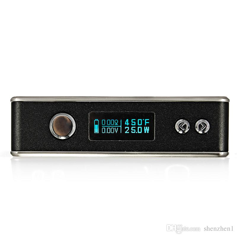 Sigelei 75W Box Mod Wattaggio variabile 5W-75W Controllo temperatura 18650 Metal Mod VS Sigelei 150W TC DHL gratuito TZ597