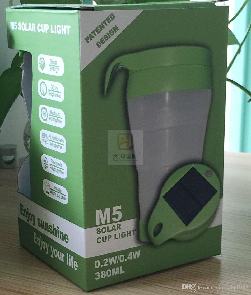 2 en 1 el equipo solar de la luz de la taza del agua del LED para el uso interior al aire libre M5 llevó el ahorro de la energía ligero