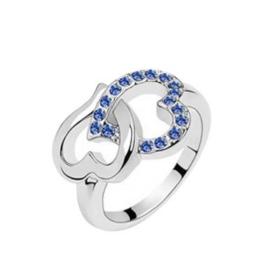 Crystal ring lover wedding cluster rings high quality charm jewelry wedding ornament ring gift