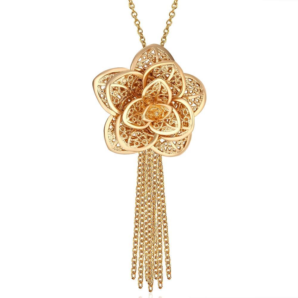 50fc1878af5ec Beautiful Flower Necklace Design - Dapazze.com