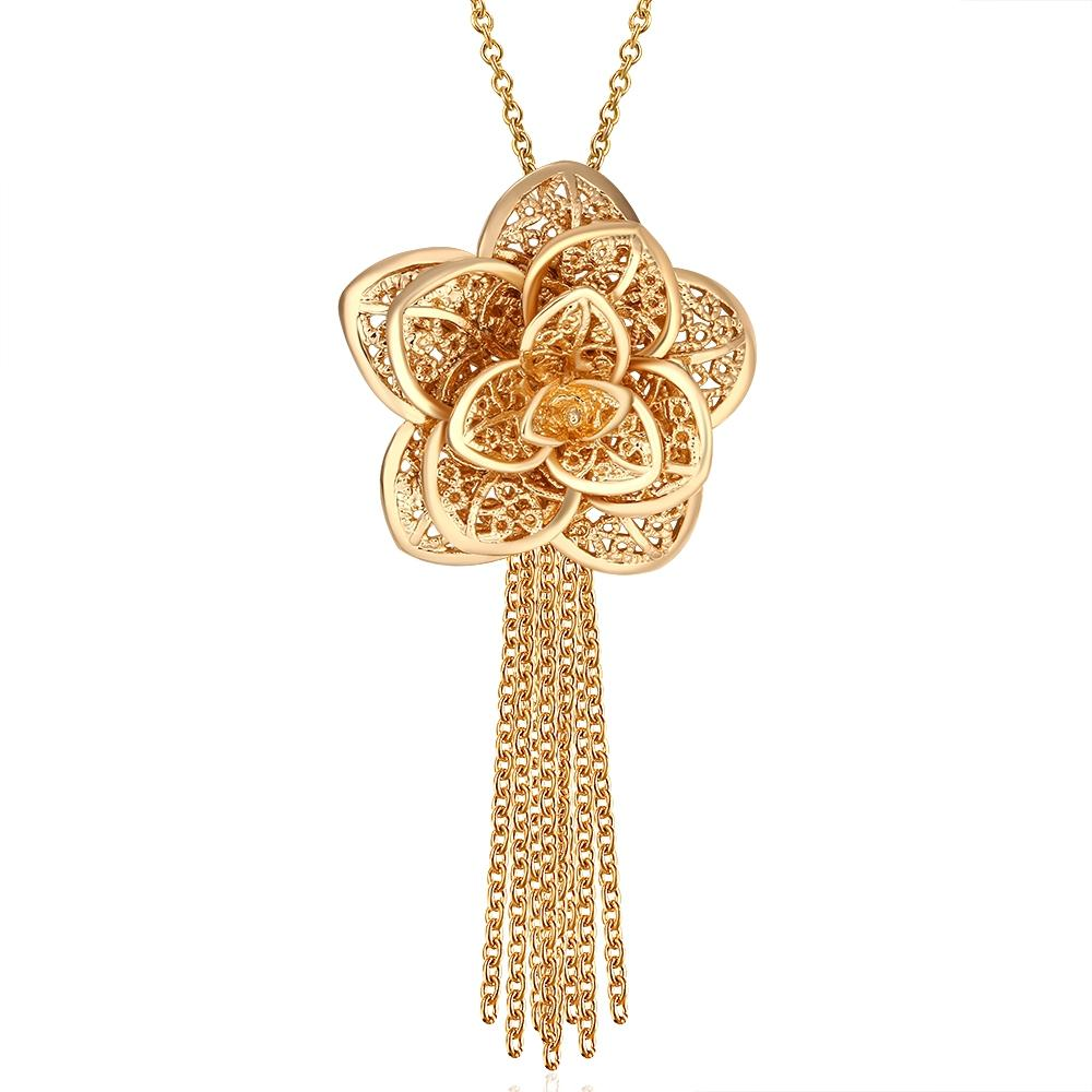 Wholesale 2015 New Design Beautiful Flower Pendant 18k Gold Plated ...