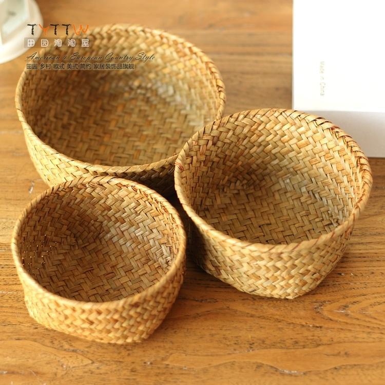 Kochen & Genießen Lovely Weben Ablagekorb Rattan Handarbeit Obst Essen Veranstalter Brot Körbe Handarbeit