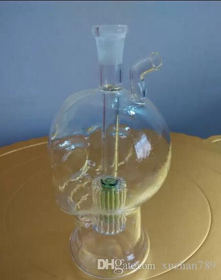 Con la cabeza del fantasma de la lámpara de vidrio pipa de fumar Envío gratis 2016 la nueva venta caliente de tuberías de agua de vidrio plataformas petroleras