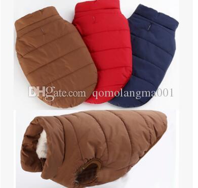 Pet Dog Winter Clothes Outdoor impermeabile Canotta Giacca Fibbia Stile Pet Costume Abbigliamento Cotone spesso cappotto caldo chihuahua Top Quality