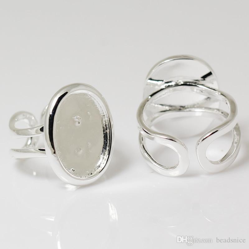 BeadSnice Ring Base Setting Perfect voor Cabochons Ring Base Blanks Verstelbare maat voor kostuum Sieraden ID 7351
