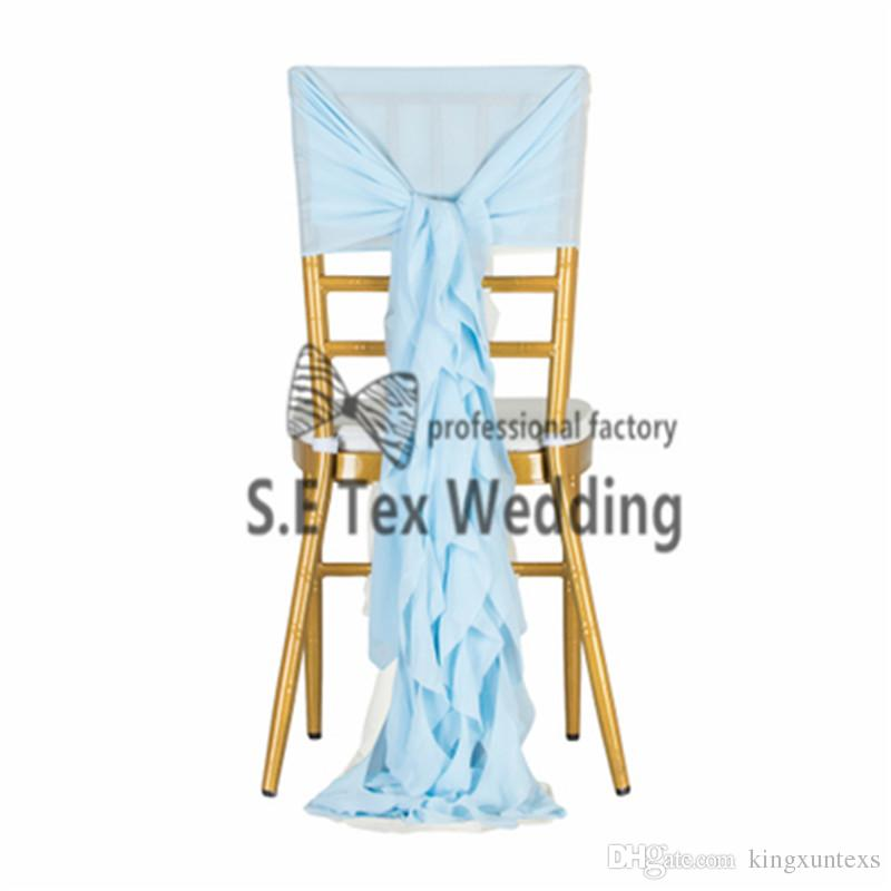 Cheap Price Chiffon Chiavari Chair Cover \ Wickle Chair Hood Sash For Event And Wedding Decoration
