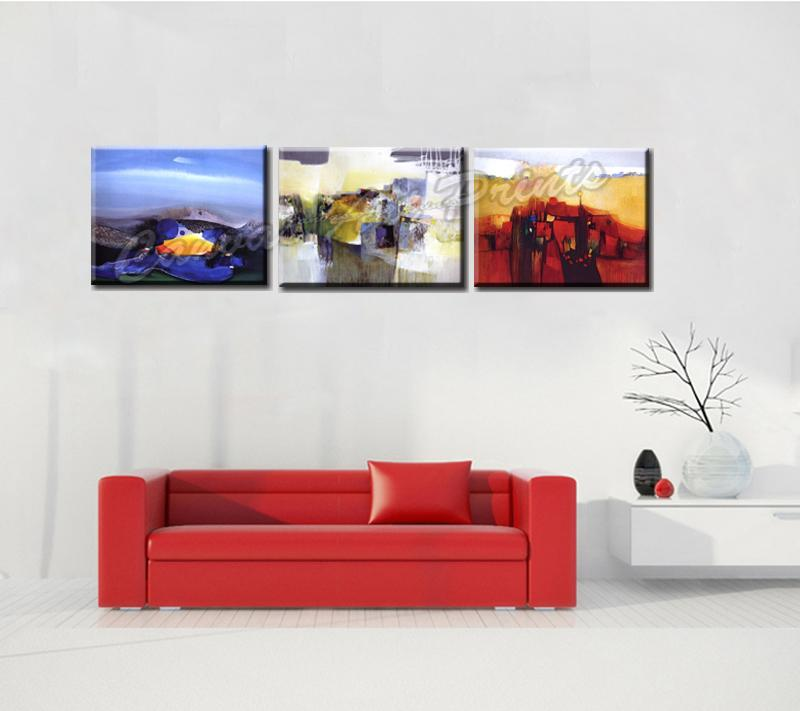 Modern Wall Art Canvas Painting Abstract 3 Piece Canvas Prints Art Panel Picture Abstract Painting Framed for Home Decoration