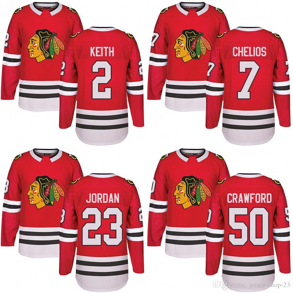 Customized Mens 2017-2018 Chicago Blackhawks 2 Duncan Keith 7 Chris ... 8d851c239