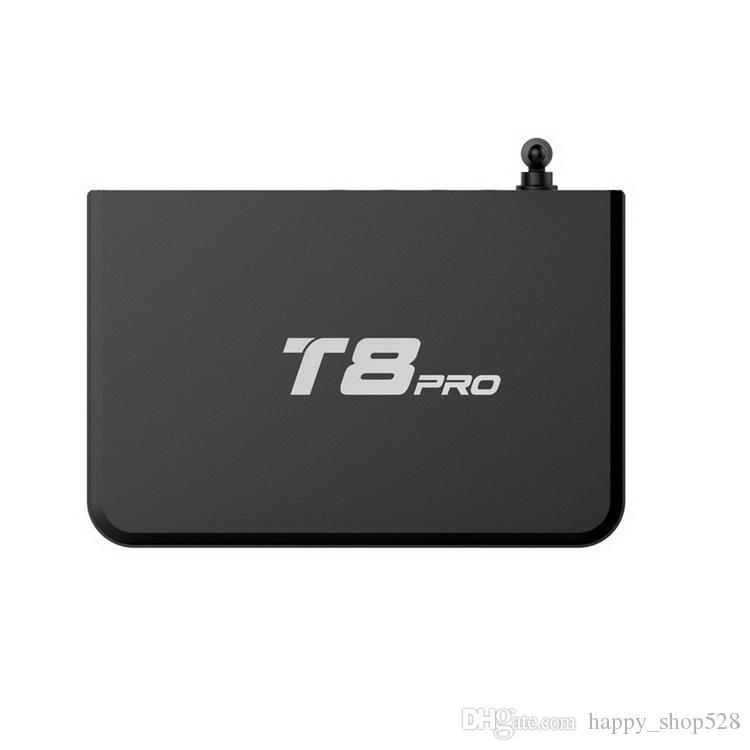 T8 Pro Quad Core Android 4.4 TV BOÎTE S812 quad core smart media player support 2.4 / 5 Ghz wifi Bluetooth 2 Go / 8 Go android tv boîte