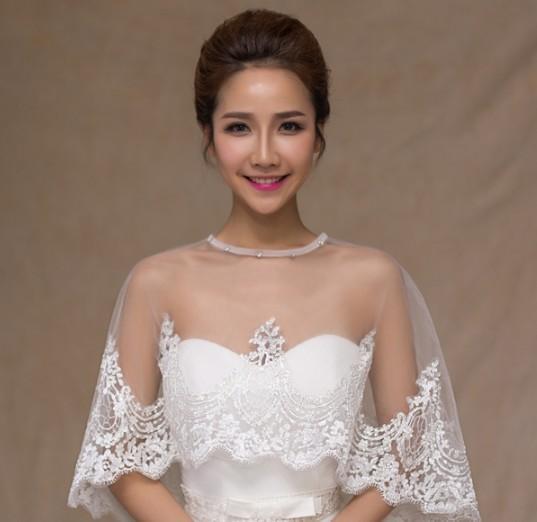 2016 Hot Selling Lace Summer Bridal Shawl Korea Style