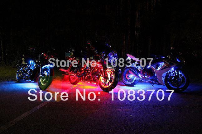 Flexible led strip motorcycle bike lights kit remote control multi 6pc flexible led strip motorcycle bike lightsg aloadofball Image collections