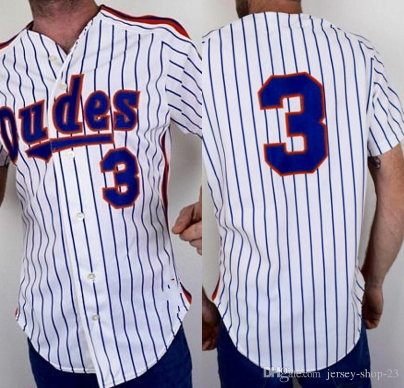 db104087e 2019 Vintage 90s DUDES Baseball Jersey By Rawlings Size White Blue Orange  Pinstripe Striped Large From Jersey Shop 23