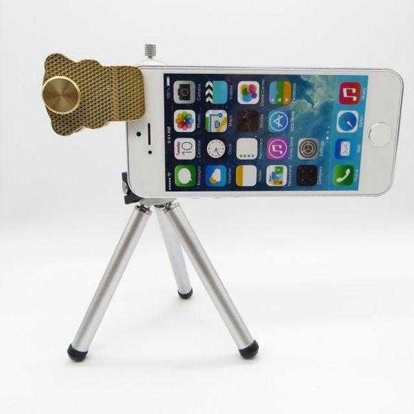 Универсальный Cat клип 12x зум смартфон телескопы объектив камеры со штативом для iPhone 5 5s 6 Samsung S6 LG HTC телефон объектив