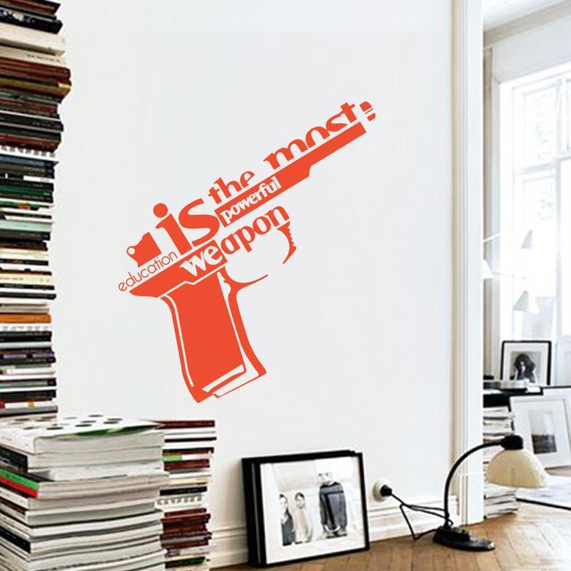 Ome Decor Wall Sticker Art Design Vinyl Wall Sticker Education Is