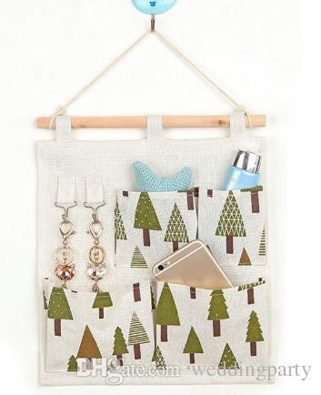 Nützliche Verschiedene Baumwolle Leinen Wandbehang Veranstalter Tasche mehrschichtige Halter Aufbewahrungstasche Tasche Dekoration