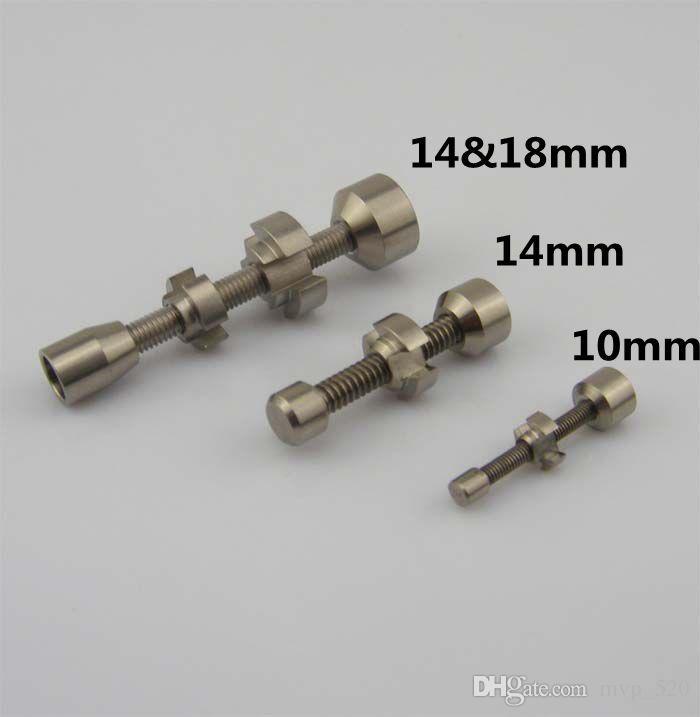 2015 новые дешевые 10 мм 14 мм 18 мм двойной сочлененные регулируемая GR2 титана ногтей Титана Domeless ногтей воск масло бесплатно DHL