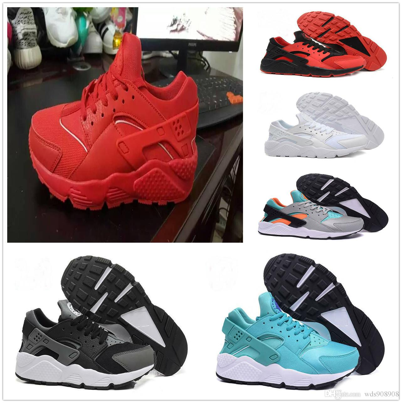 0057bc5cd63a Cheap Newest Air Huarache 4 IV Ultra Reflect Running Shoes For Men Women Leather  Mens Huraches Sports Trainers Sneakers 36-45