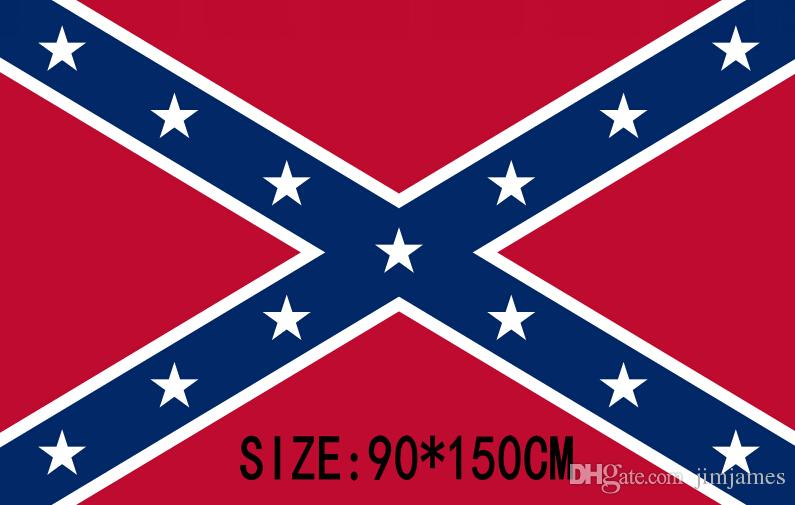 Confederate Rebel Civil War Flag Confederate Flag Confederate Battle Flags Two Sides Printed Flag National Polyester Flags