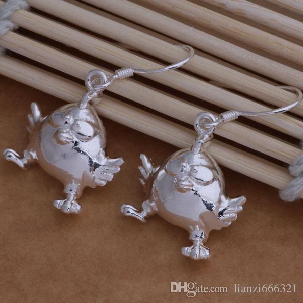 Мода изготовление ювелирных изделий 40 шт. куриных серьги стерлингового серебра 925 заводская цена мода обуви серьги