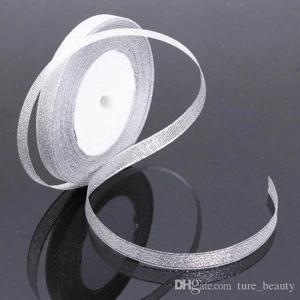 SALE! 3x 22M 100 Yard Rolls GLITTER EFFECT Sparkle Christmas Decoration Wedding Party Organza Ribbon Decor Gift Golden Silver