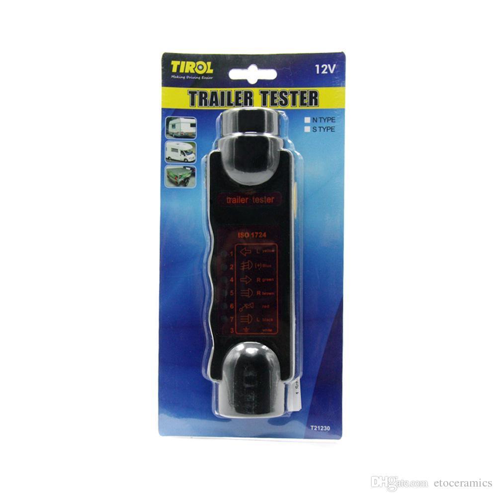 Auto Trailer Caravan 7-pins Towing Tow Bar Light Bedrading Circuit Tester Plug Socket