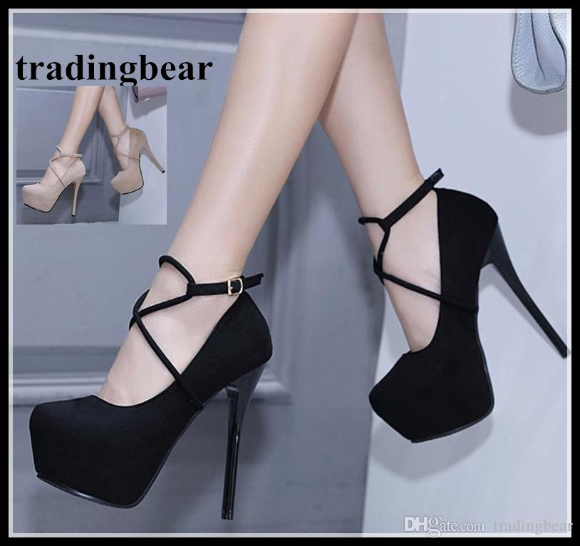 8a84eb50e925a Christmas Party Dance Shoes Sexy Cross Strappy Platform High Heels Shoes  Women Pumps 14cm Size 34 To 39 Dansko Shoes Tennis Shoes From Tradingbear